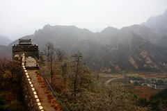 Great wall autumn Royalty Free Stock Images