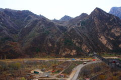 Great wall autumn Stock Photos