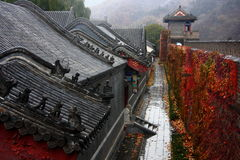 Great wall autumn rainy Royalty Free Stock Images