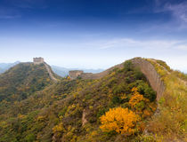 The great wall autumn scenery Royalty Free Stock Photography