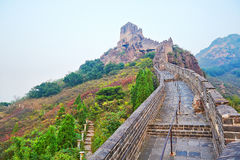 The Great Wall autumnal scenery Stock Photos
