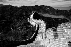 Great Wall & x28;B&W& x29; Royalty Free Stock Image