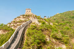 The Great Wall. In Badaling Stock Images