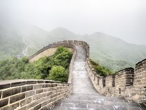 The Great Wall Badaling section with clouds and mist, Beijing, China Royalty Free Stock Images