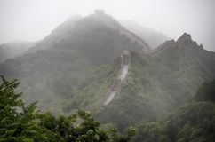 The Great Wall Badaling section with clouds and mist, Beijing, China Stock Images
