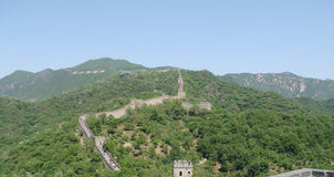 Great wall - Beijing. Military historical structure in Beijing, the Great Wall Royalty Free Stock Photo