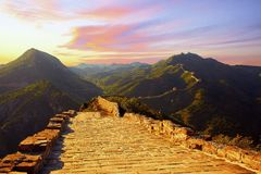 The Great Wall, Beijing, China royalty free stock photography