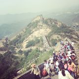 Great Wall. Of beijing top view Stock Photography