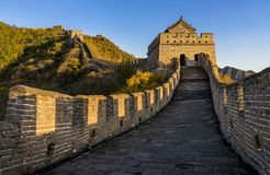 The Great Wall. Called mutianyu in beijing royalty free stock photo