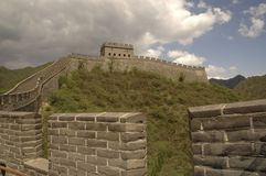 The Great Wall of China 02. The Great Wall of China near Badaling Gate, a large junction tower Royalty Free Stock Images