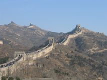 Great Wall of China 1. The Great Wall of China, Diagonal direction royalty free stock image