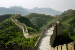 The Great Wall of China. A section of The Great Wall of China, in Badaling Stock Photos
