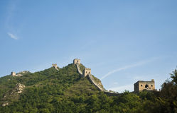 Great Wall of China. Watch towers on the great wall of china Royalty Free Stock Photo