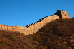 The Great Wall of China. In the late afternoon time Royalty Free Stock Photo