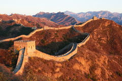 The Great Wall of China. With a beautiful mountain background Royalty Free Stock Photography