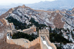 Great wall of China. View of the great wall of china during winter Stock Photo