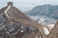 Great wall of China. View of the great wall of china during winter Stock Photos