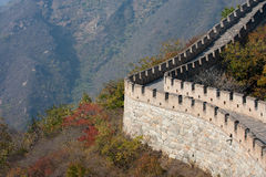 Great Wall of China. Part of the Great Wall of China at Mutianyu, Beijing outskirts Royalty Free Stock Photo