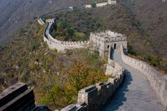 Great Wall of China. Part of the Great Wall of China at Mutianyu, Beijing outskirts Royalty Free Stock Image