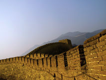 Great Wall of China. The Great Wall of China (Mu Tian Yu) under a setting sun. February 2007, Chinese New Year Royalty Free Stock Photos