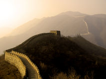 Great Wall of China. The Great Wall of China (Mu Tian Yu) under a setting sun. February 2007 Stock Images