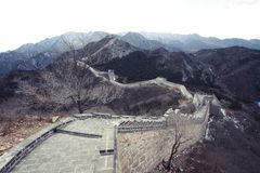 Great Wall of China. Badaling, Beijing, China Royalty Free Stock Images