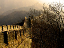 Great Wall of China. The Great Wall of China (Mu Tian Yu) under a setting sun. February 2007 royalty free stock photography