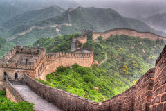 The Great Wall of China. It is bigger defense structure in the world stock images