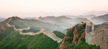 Great Wall of China. In mist Stock Photography