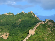 Great Wall of China. Meanders of the Great Wall of China - China Stock Images
