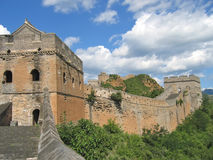 Great Wall of China. Detail of the Great Wall of China - China Royalty Free Stock Photo
