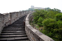 The Great Wall of China. In the fog Stock Photo