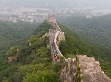 Great Wall Of China. Tourist-spot at Great Wall of China under the fog Royalty Free Stock Photo