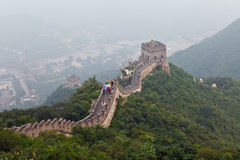 Great Wall Of China. Tourist-spot at Great Wall of China under the fog Stock Photo