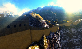 Great Wall of China. The Great Wall of China Royalty Free Stock Photo
