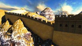 Great Wall of China. The Great Wall of China vector illustration