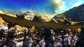 Great Wall of China. The Great Wall of China royalty free illustration