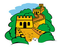 Great Wall in China vector illustration