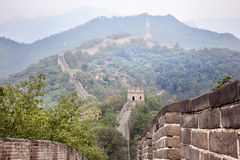 Great wall of china. Lost in the fog Royalty Free Stock Photography