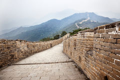 Great wall of china. Lost in the fog Stock Images