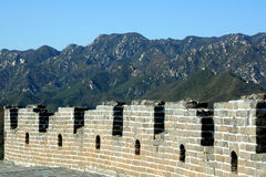 Great Wall of China. On mountain backgroung Stock Image