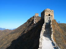 Great Wall of China. The Great Wall of China near Simatai stock images