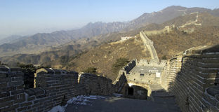 The Great Wall of China. A section of the Great Wall of China Royalty Free Stock Photo
