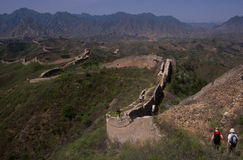 Great Wall of China. Some sections of the Great Wall of China are crumbling and deteriorating, but this section between Simatai and Jinshanling is well Royalty Free Stock Photo