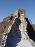 The Great Wall of China. Steep steps upto the tower stock image