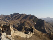 The Great Wall of China. Downhill Stock Photos