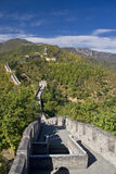 Great Wall of China. The Great Wall of China running over steep mountains outside Bejing stock photography