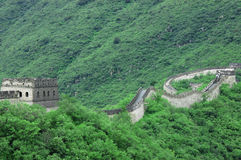 Great wall of China. The great wall of China, with a beautiful mountain backdrop Royalty Free Stock Photo