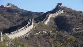 Great wall,China ancient defense engineering stock video