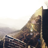 Great Wall China Ancient History Landmark Journey Concept Royalty Free Stock Photos
